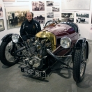 Visiting the Morgan car factory with Enrique