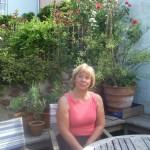 Lucy in her garden